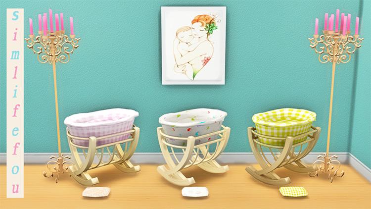 Basket Baby Crib Sims 4 Mod screenshot