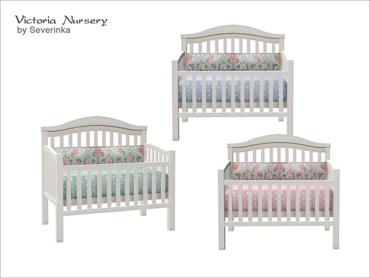 Victoria Nursery Baby Crib Sims 4 Mod screenshot