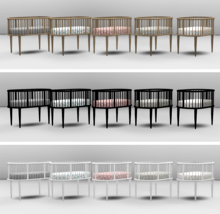 Cribs in Heyden Nursery Sims 4 Mod