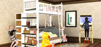 Bunk Bed Loft design in TS4