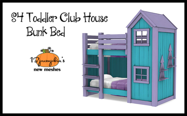 Toddler Club House Sims 4 Mod title