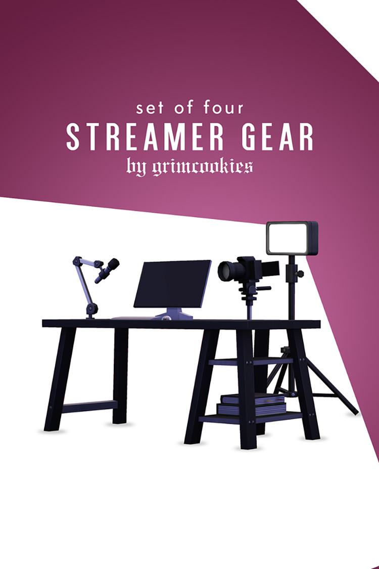 Streamer Gear Sims 4 CC