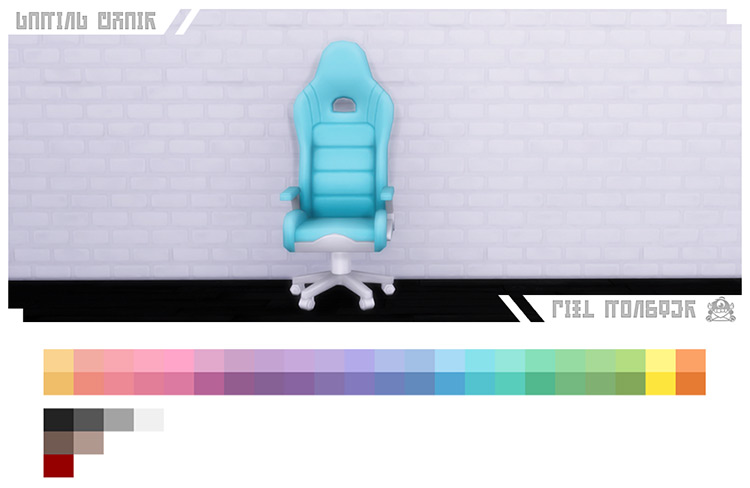 Gaming Chair Sims 4 CC palette samples