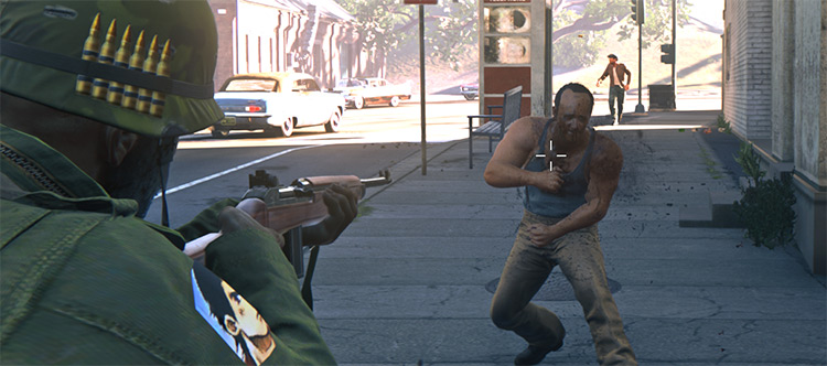 It's War Time! Realistic Damage + Difficulty Mod Mafia 3 Mod screenshot