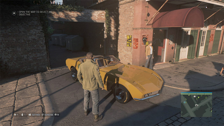 Car Spawn Mod Mafia 3 Mod yellow car screenshot