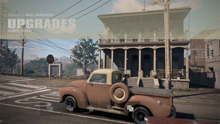 Car Customizations Mafia 3 Mod upgrade menu