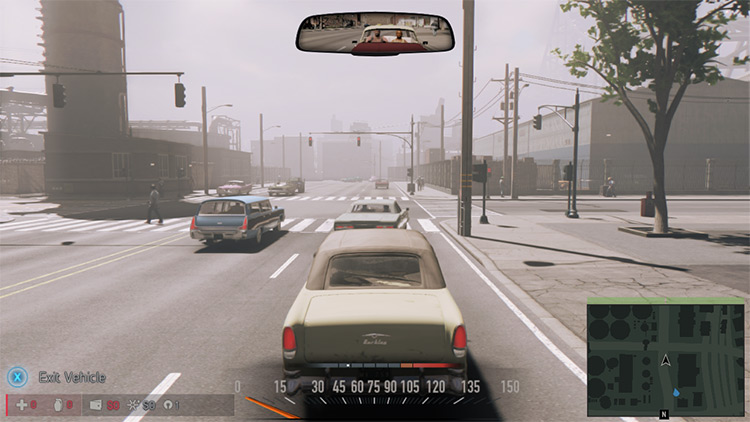 No Rear View Mirror Speedometer Mod screenshot