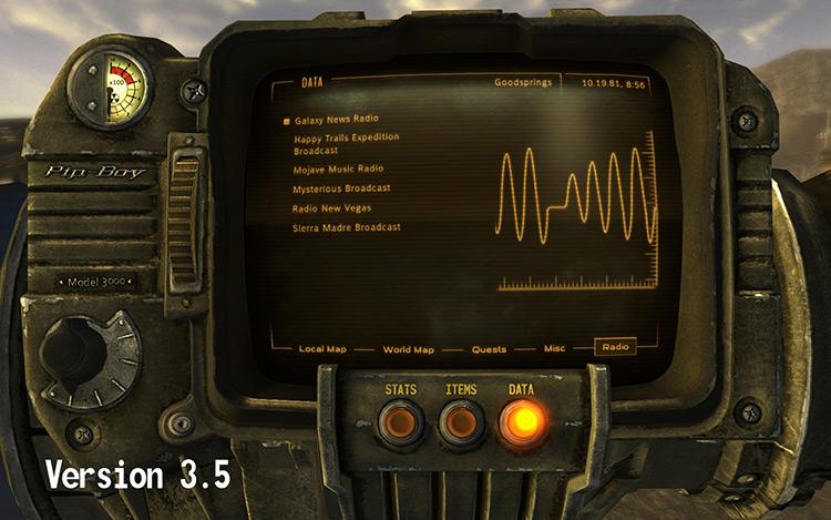 PipBoy 3000 HD Retexture FNV Mod screenshot