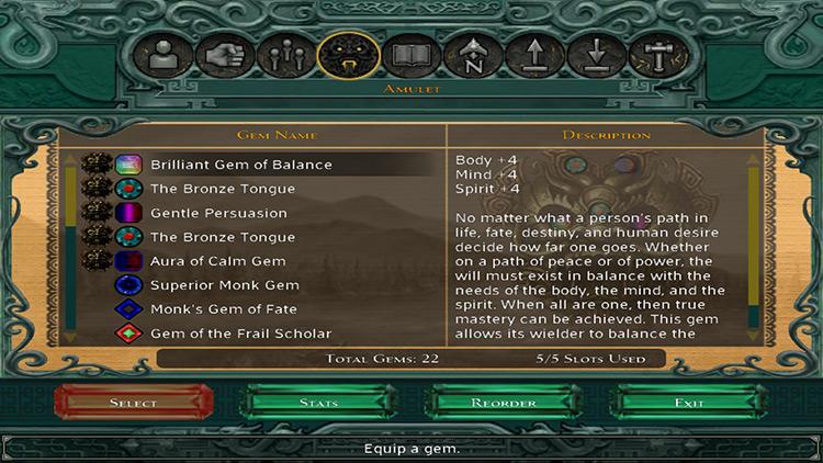 UI Overhaul Jade Empire Mod menu screenshot