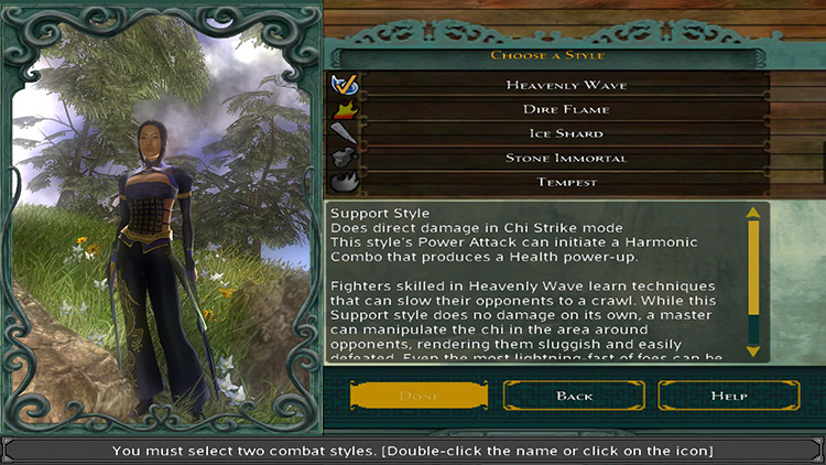 Magic Starting Styles Jade Empire Mod menu screenshot