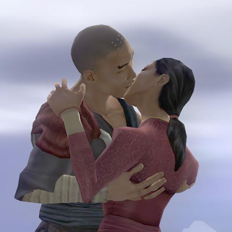 Jade Empire  characters kissing screenshot