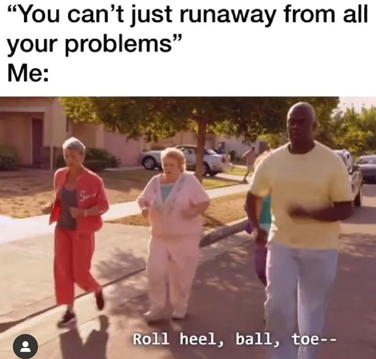 Captain Holt - roll heel ball toe meme