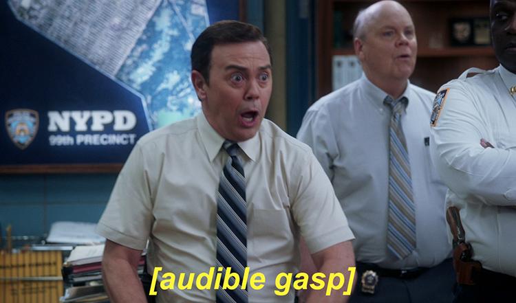 Charles Boyle - audible gasp meme