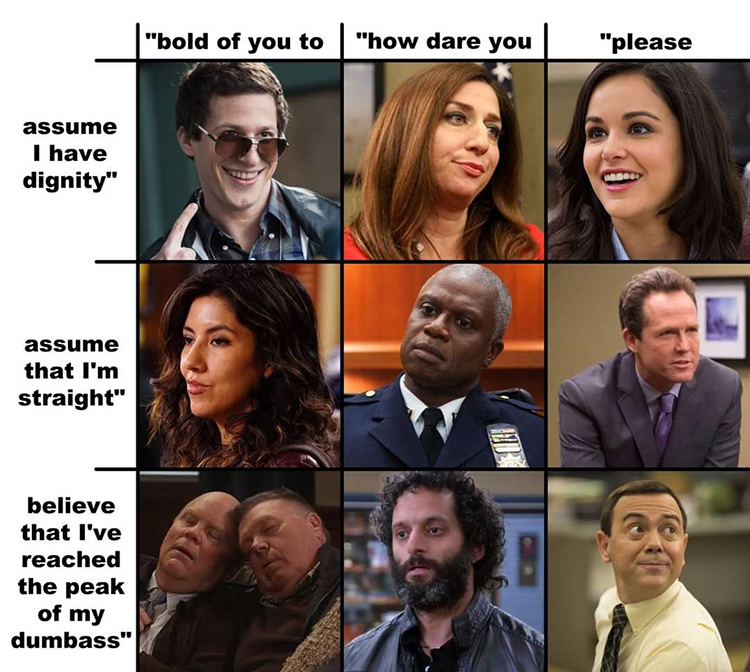 B99 group chart meme