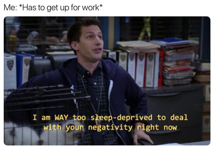Early morning peralta meme