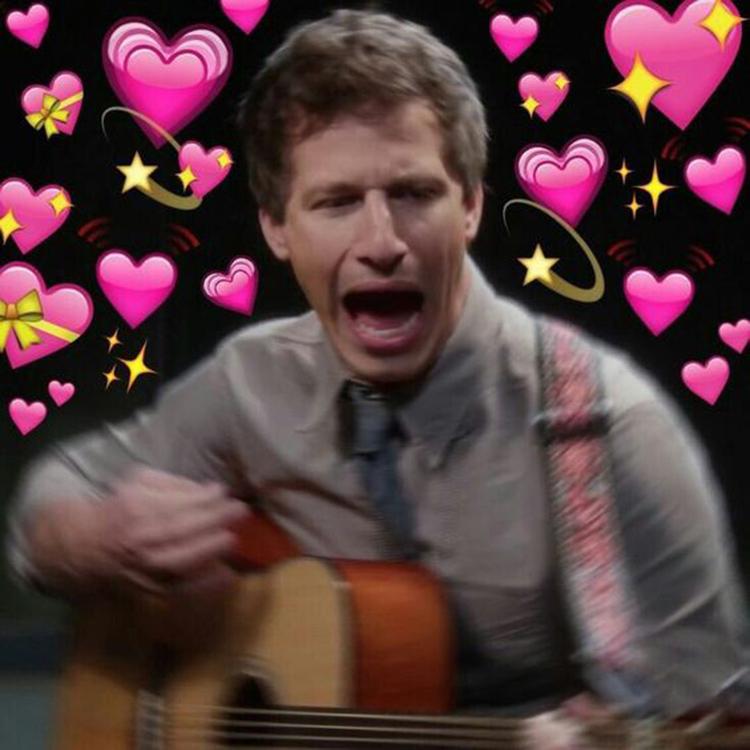 Peralta screaming playing bad guitar