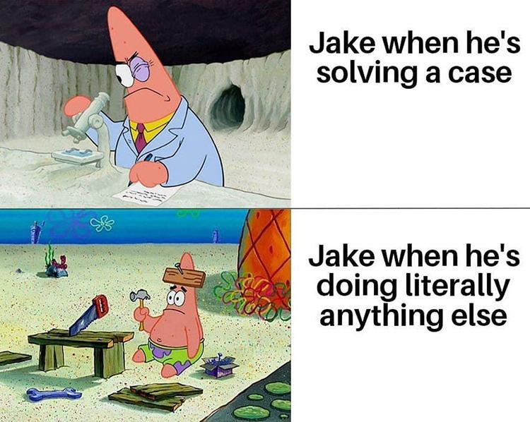 Patrick meme crossover for Brooklyn Nine Nine