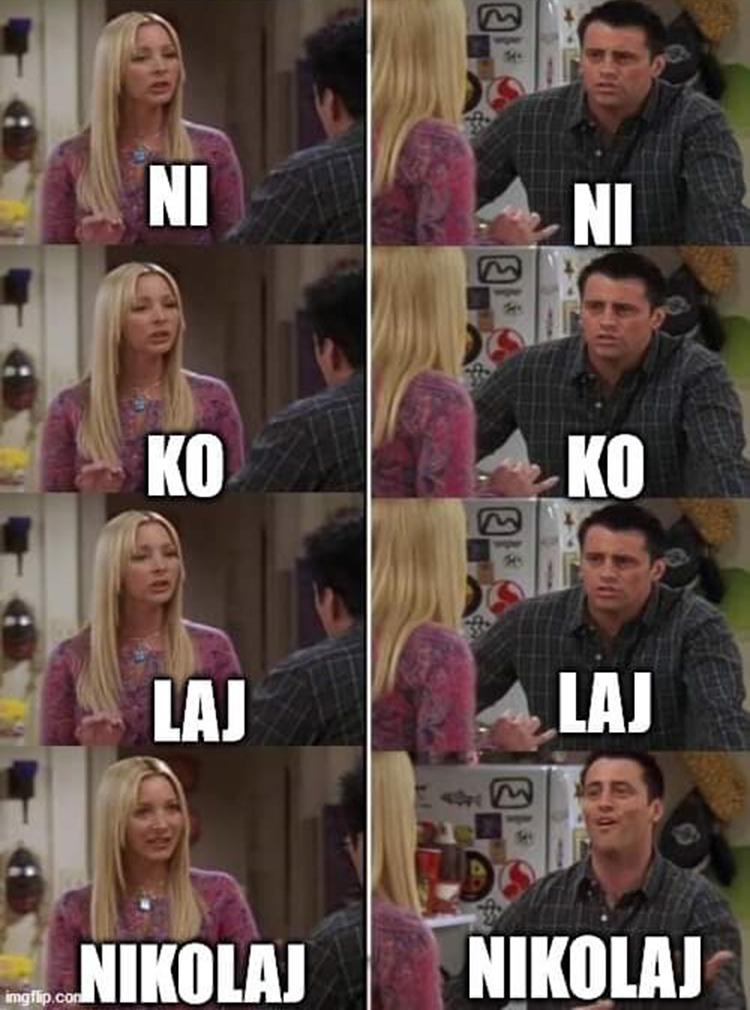 Friends meme crossover Nikolaj B99