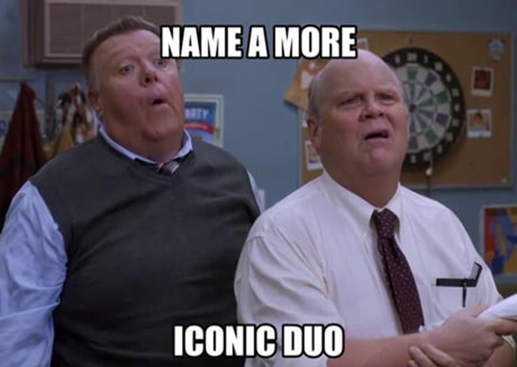 Hitchcock and Scully duo meme