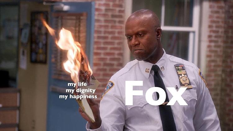 Fox burning my dreams meme