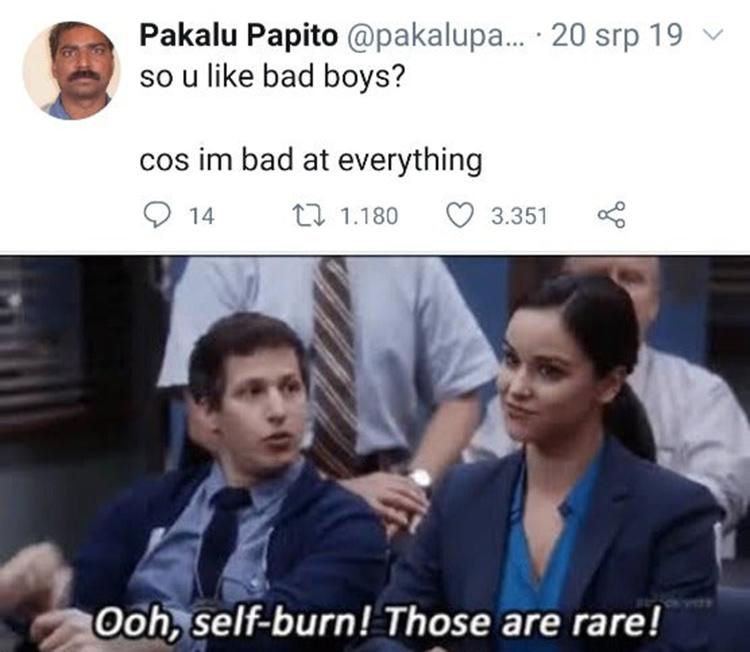 Rare Self Burn Dating B99 meme
