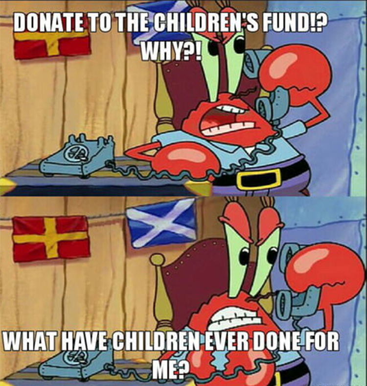 Krabs and the childrens fund