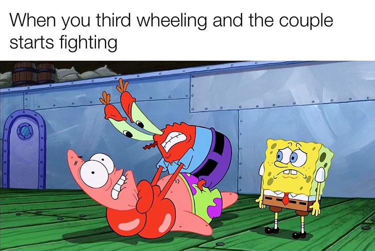 Third wheel - mr krabs meme