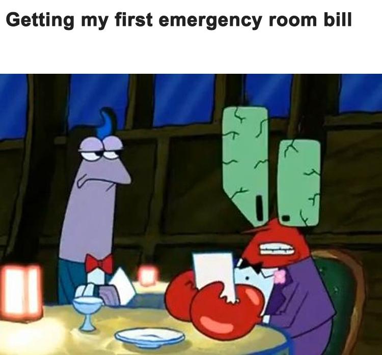 Medical bill expensive meme
