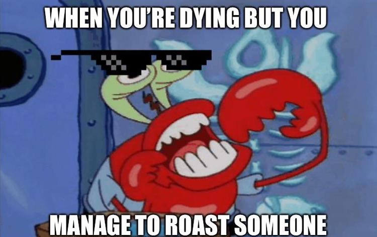 Mr krabs roasting meme