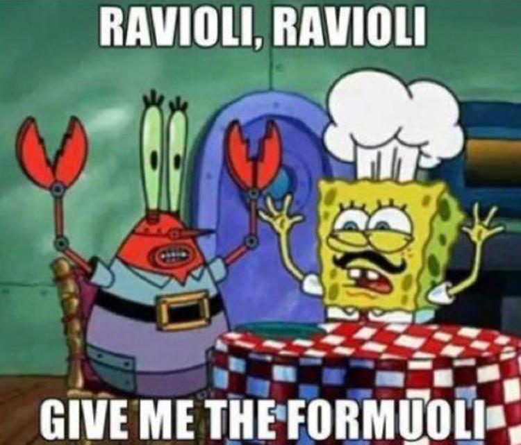 Ravioli give me the formuoli