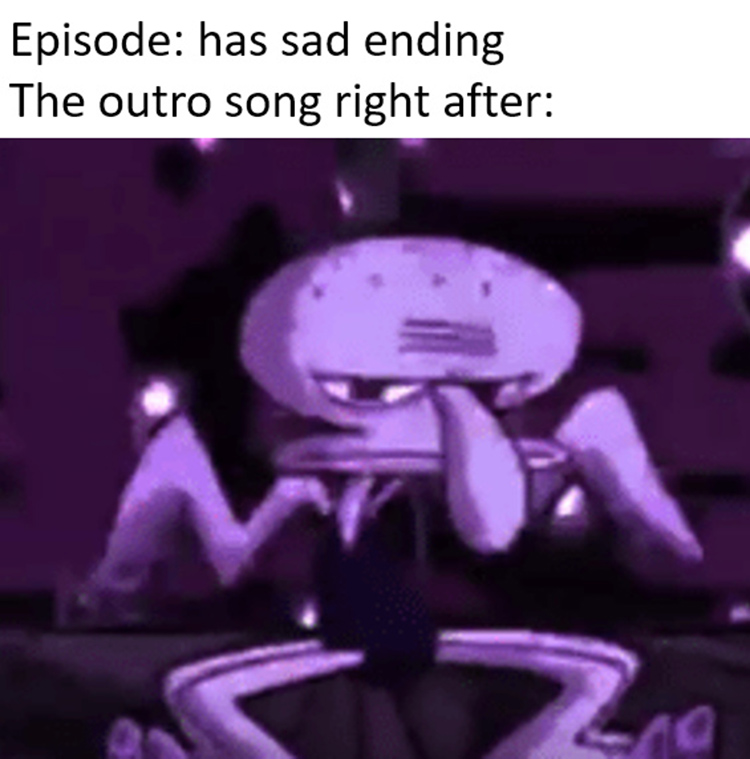 Squidward dancing happy outro song