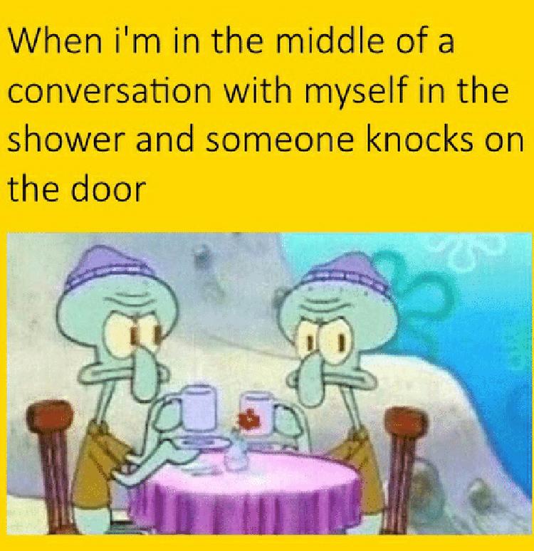 Having a conversation with myself meme