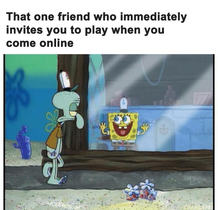 Excited friend meme