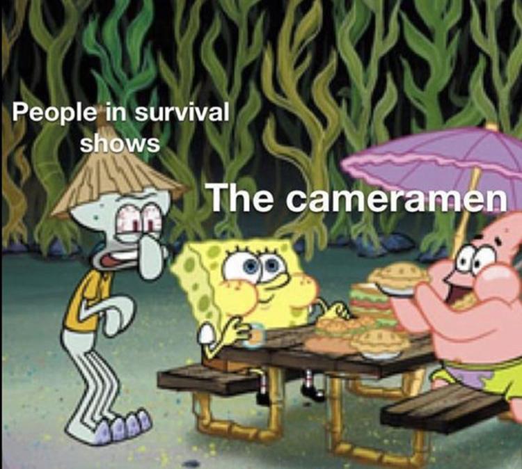 Survival contestants vs camera crew