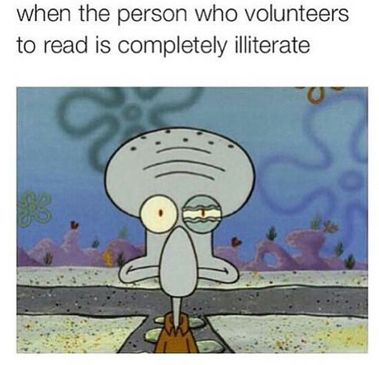When the reader is illiterate