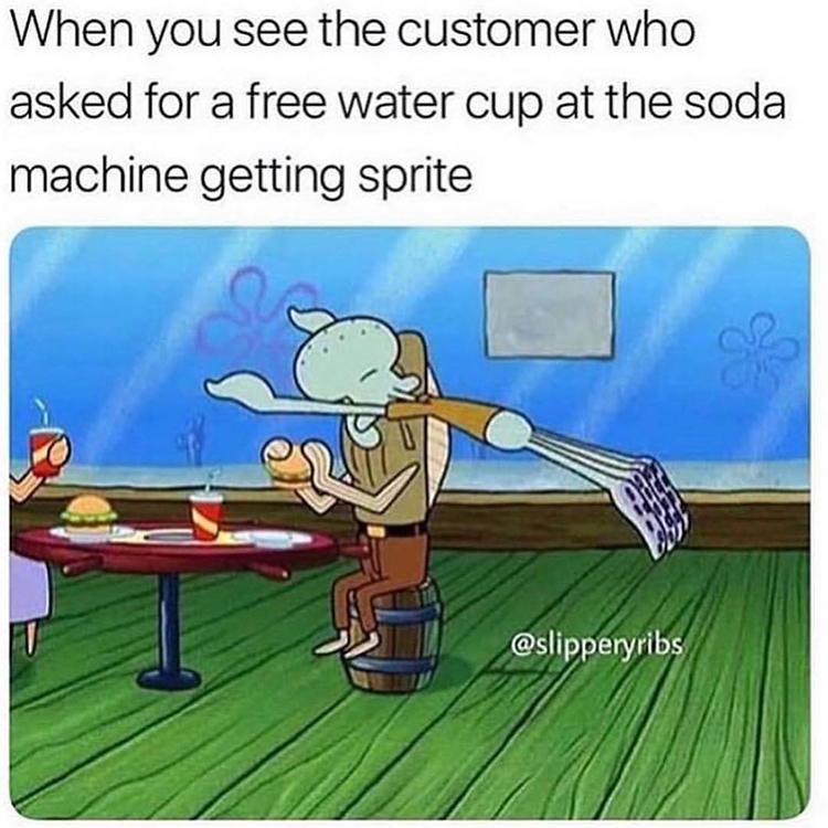 Taking cups of soda free meme