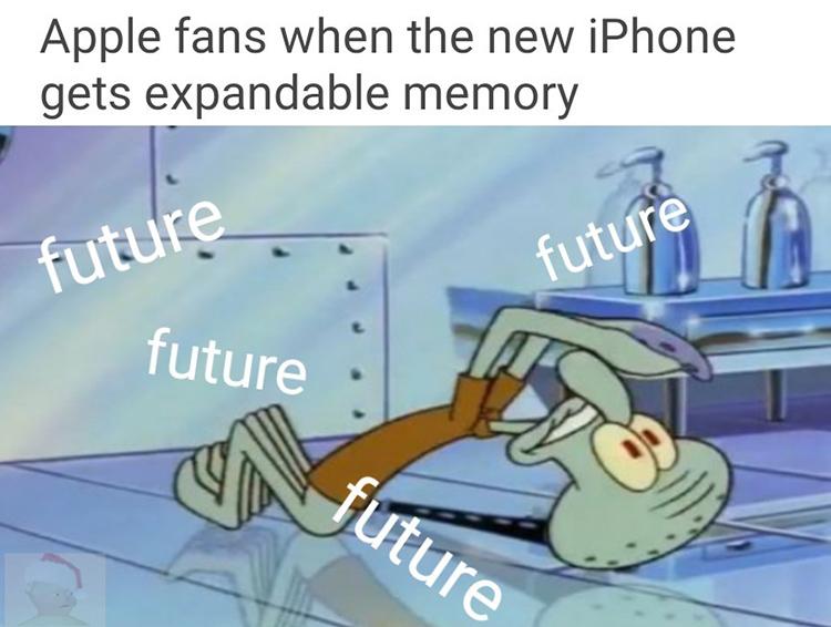 Squidward future meme