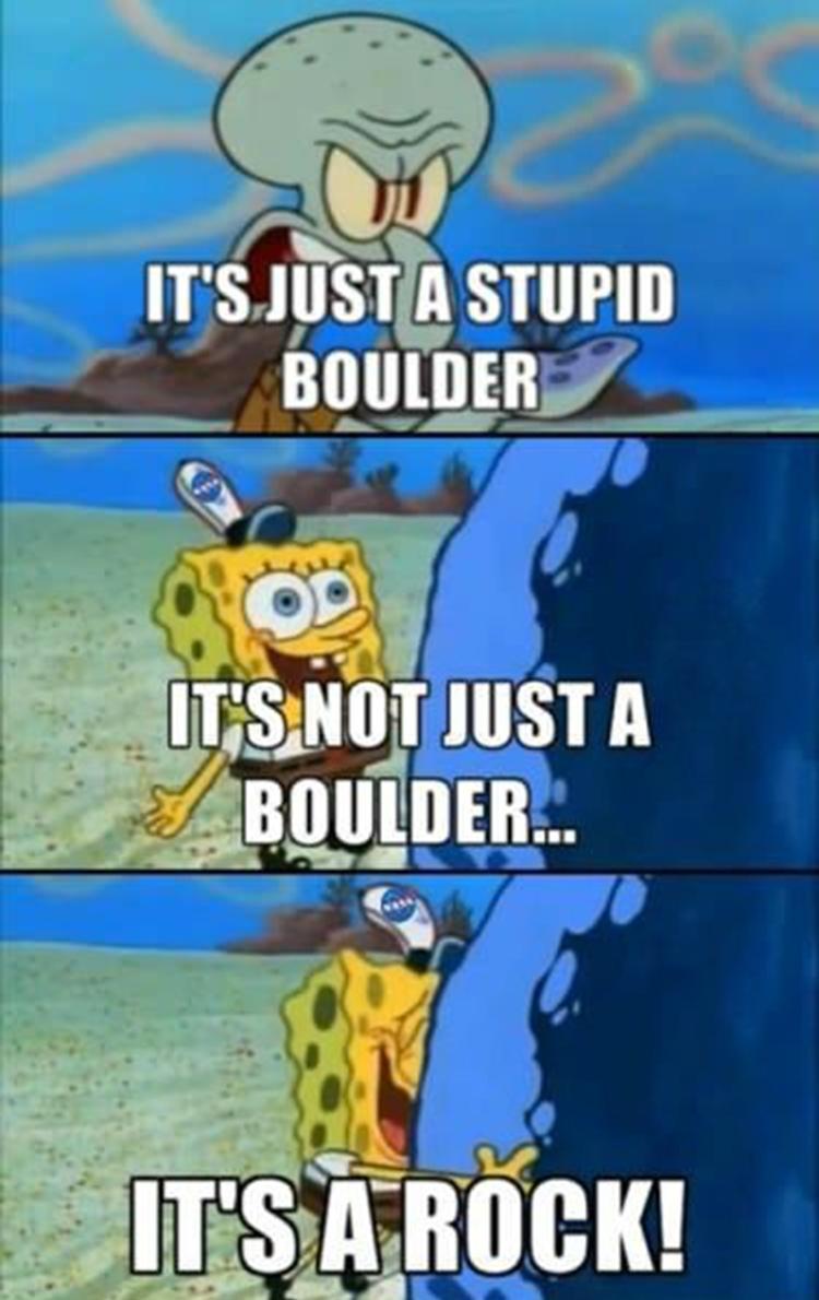It's not just a boulder, it's a rock