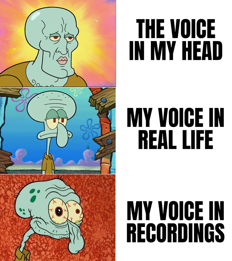 My voice in my head vs recording
