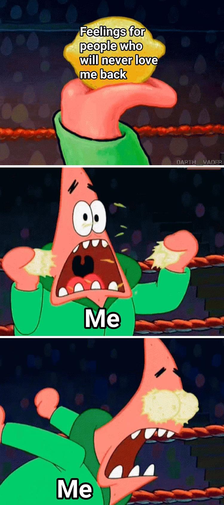 Patrick crush Lemon meme
