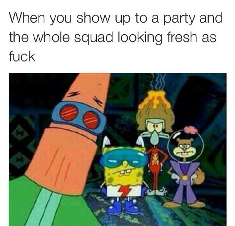 When the squad looks fresh as f
