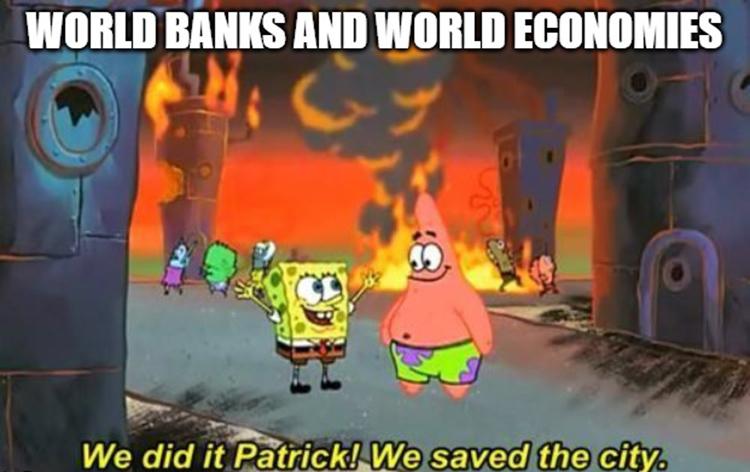 We saved the city meme