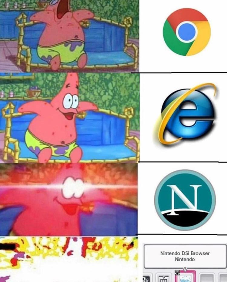 Web Browser Patrick meme