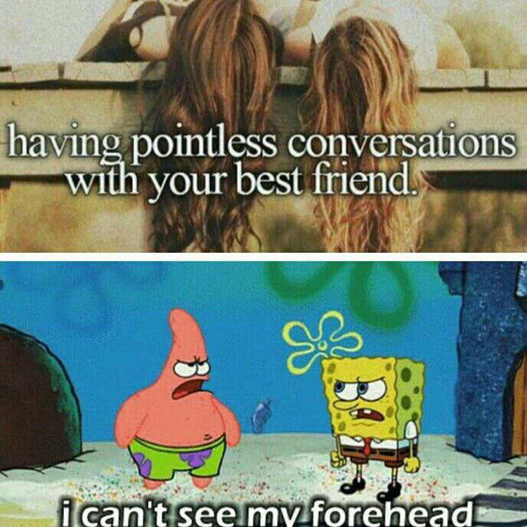 Talking with friends meme