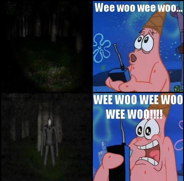 Patrick wee woo meme