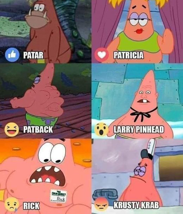 Patrick Star's other names