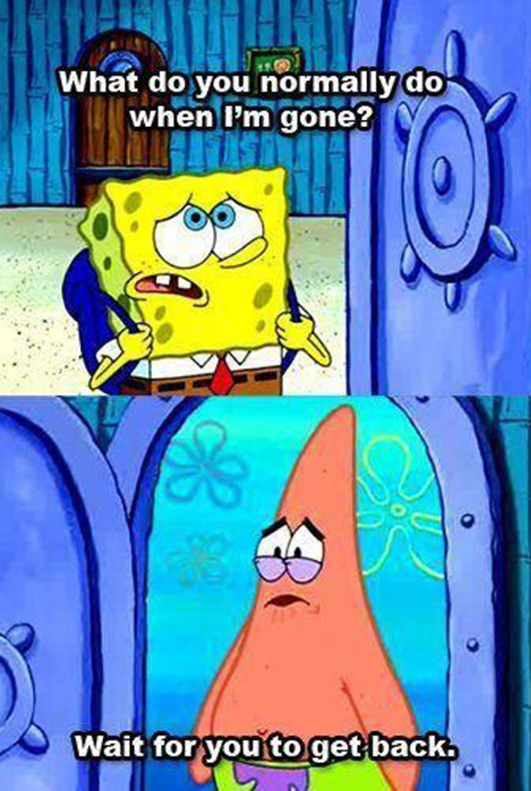 Patrick waiting for you to get home