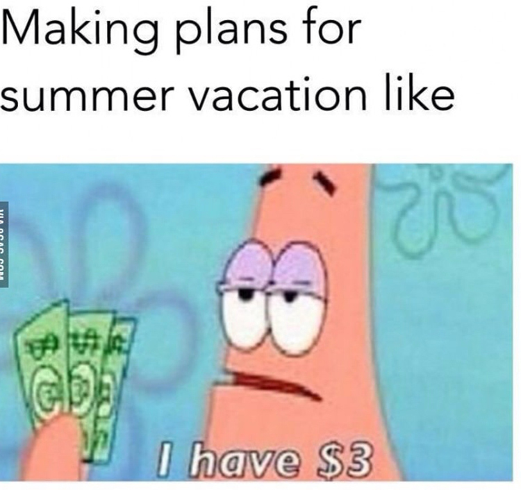 Making summer vacation plans meme