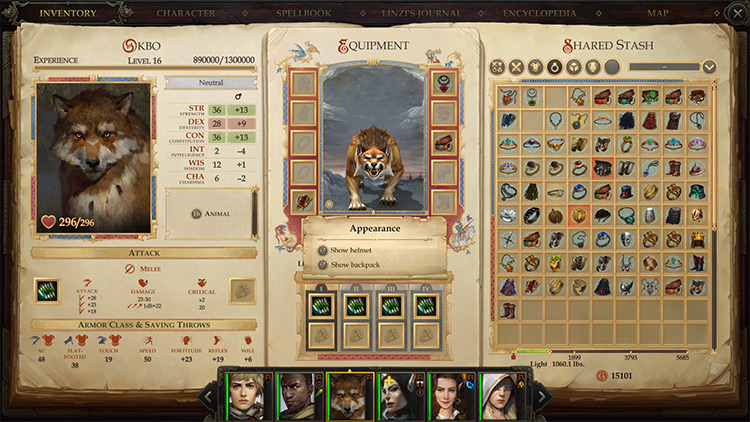 Call of the Wild mod for Pathfinder: Kingmaker