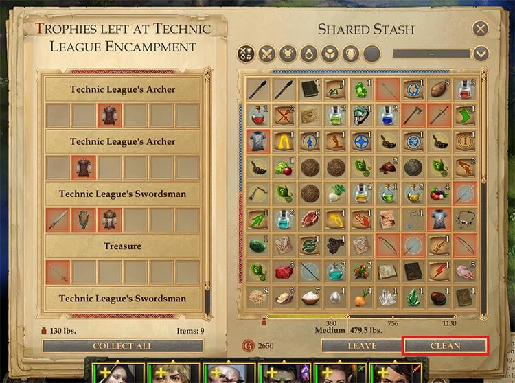 Cleaner Pathfinder: Kingmaker mod screenshot